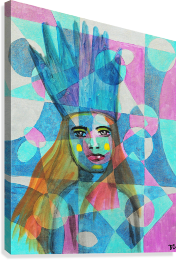 Woman in blue-5  Canvas Print
