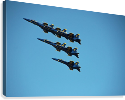 USN BLUE ANGELS FORMATION DEB COLOMBO  Canvas Print