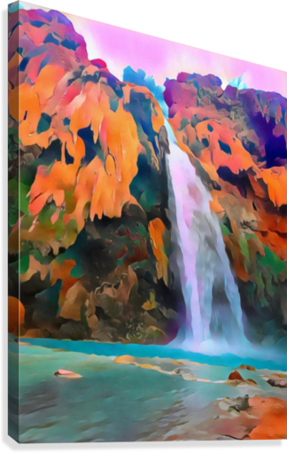 Havasupai Waterfall  Canvas Print