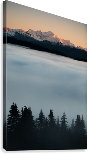 Mont Blanc and its sea of clouds  Canvas Print