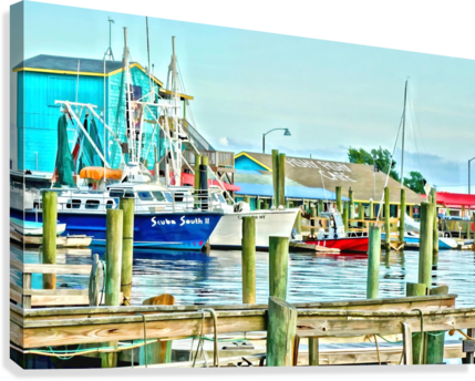 Fishy Fish  Cafe Harbor View  Canvas Print