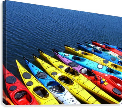COLORFUL KAYAKS DON MARGULIS  Canvas Print