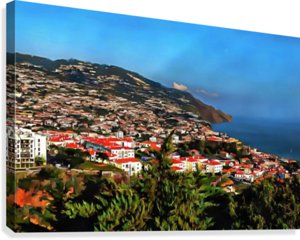 Funchal View Madeira 2  Canvas Print