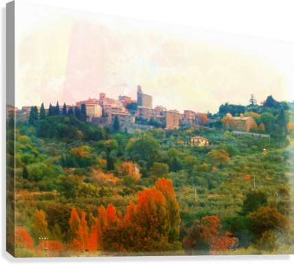 Panicale in Fall  Canvas Print