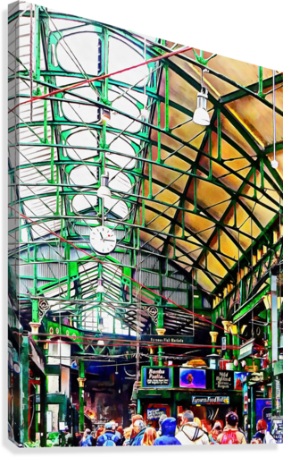 Roof Over Borough Market  Canvas Print