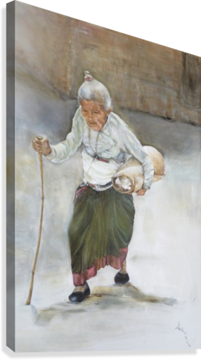 Old_Woman_High_Res  Impression sur toile
