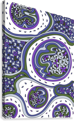 Wandering Abstract Line Art 06: Purple  Canvas Print