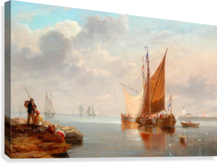 Dutch Fishing Boats  Canvas Print
