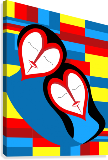 Hearts in Love  Canvas Print