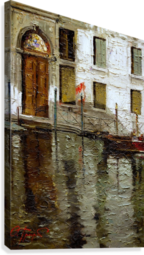 IN_VENICE EGALITARIAN ART GALLERY  Canvas Print