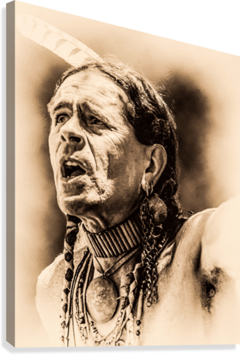 NATIVE AMERICAN 15 ERIC FRANKS PHOTOGRAPHY  Canvas Print