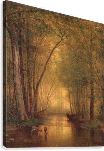 FOREST LANDSCAPE THOMAS WORTHINGTON WHITTREDGE  Impression sur toile