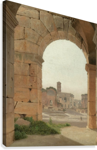 Forum Romanum set fra Colosseum  Canvas Print