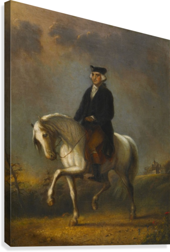 GEORGE WASHINGTON AT MOUNT VERNON ALFRED JACOB MILLER  Canvas Print