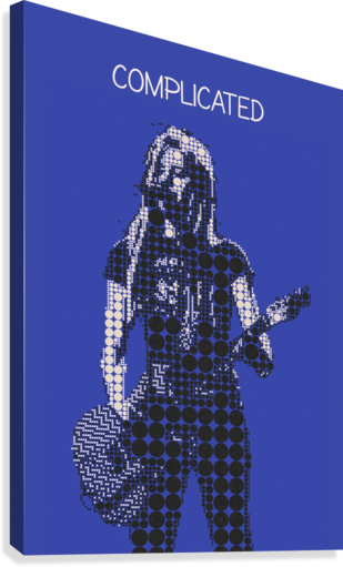 COMPLICATED   AVRIL LAVIGNE GUNAWAN RB  Canvas Print