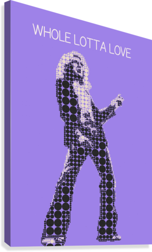 WHOLE LOTTA LOVE   ROBERT PLANT GUNAWAN RB  Canvas Print