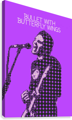 bullet with butterfly wings   billy Corgan  Canvas Print