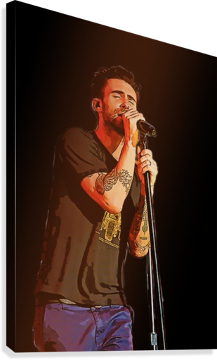 Adam Levine and Maroon 5 performed at The Forum in Inglewood Calif     Canvas Print