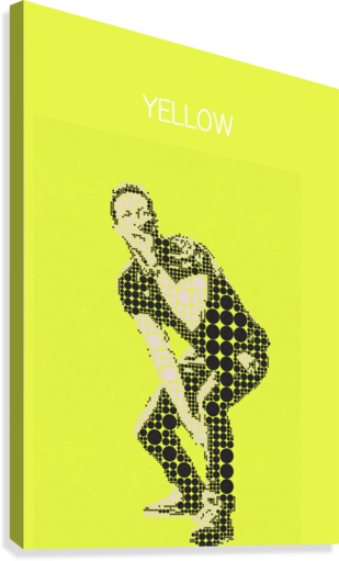 yellow    Chris Martin  Canvas Print