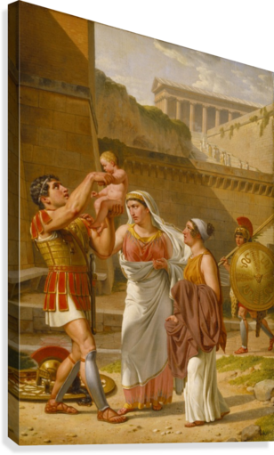 Hector's farewell to Andromache  Canvas Print