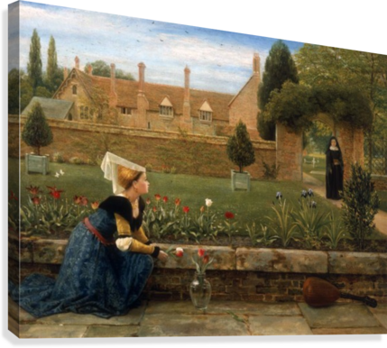 In the Convent Garden  Canvas Print