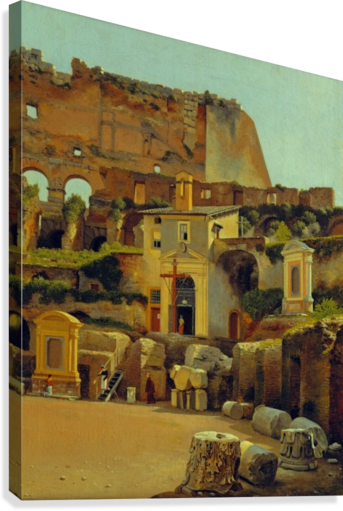 Interior of the Colosseum in Rome  Canvas Print