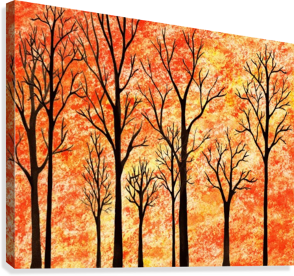 Autumn Forest Abstract   Canvas Print