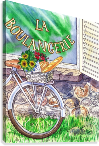 At The French Bakery   Canvas Print