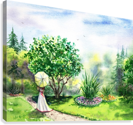 Strolling In The Garden  Canvas Print