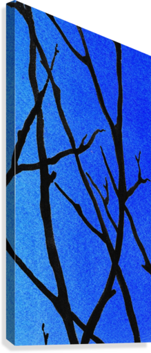 Ultramarine Forest Winter Blues III  Canvas Print