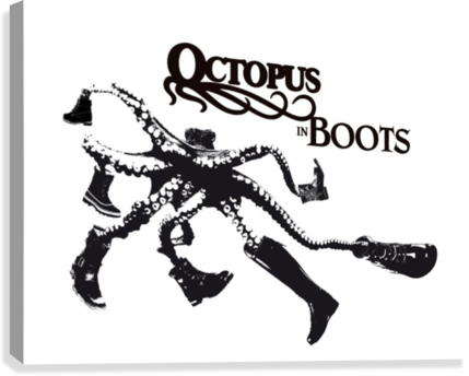 Octopus in Boots  Canvas Print