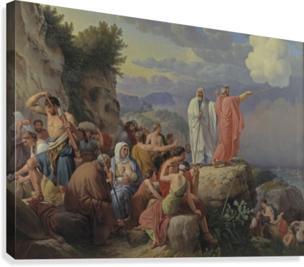 Israelites resting after the crossing of the Red Sea, 1815  Canvas Print