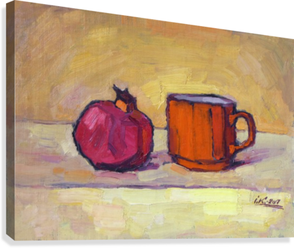 Pomegranate and Red Cup  Canvas Print
