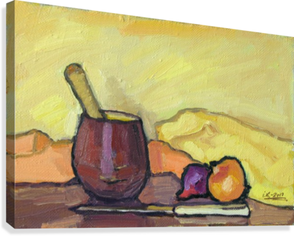 Still Life with Pounder  Canvas Print