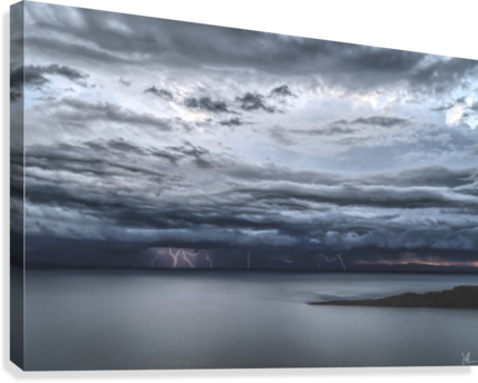Lightning Over Lake Titicaca  Canvas Print