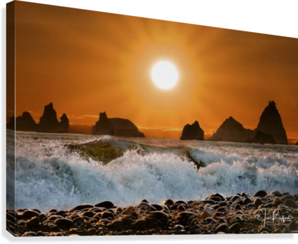 Sunset at Rialto Beach  Canvas Print