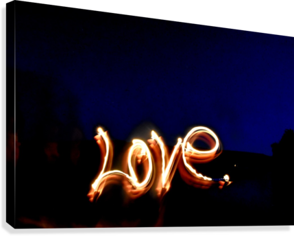 Love lights sculpture  Canvas print