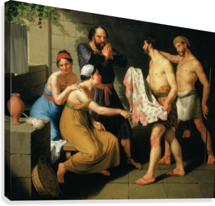Joseph's brothers bring his coat to Jacob  Canvas Print