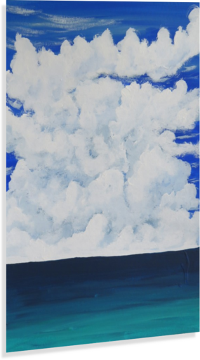 FLOATING SKY KATIE PUENNER-GRAY  Canvas Print