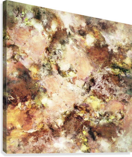 Abraded surface Canvas print