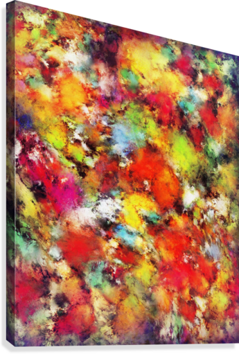 Big colour storm  Canvas Print