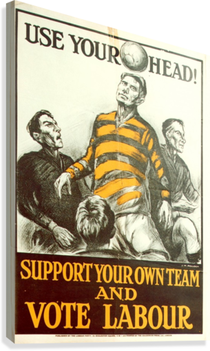 Labour Party Use Your Head 1923 poster  Canvas Print