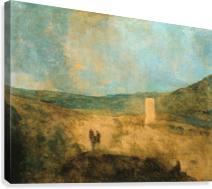 Landscape with castle  Canvas Print