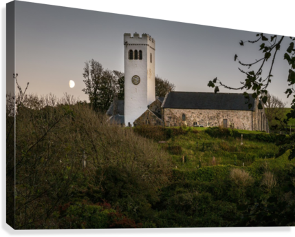 St Jamess Church in Manorbier  Canvas Print