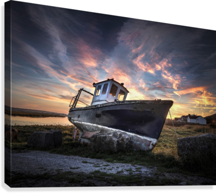 The old fishing boat  Canvas Print