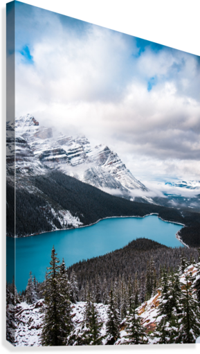WINTRY PEYTO LAKE LUCAS MOORE  Canvas Print