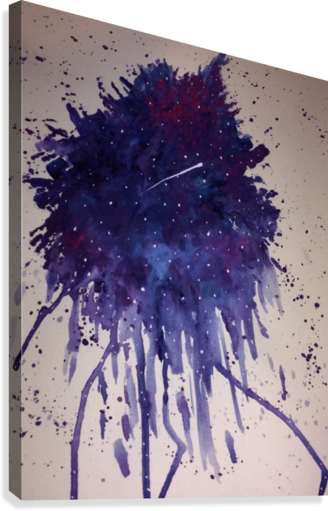 Space Splat  Canvas Print