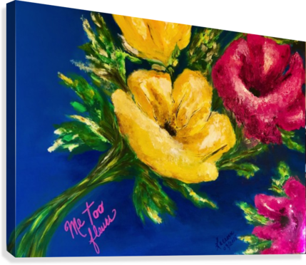 ME TOO FLEURS MARIE THERESE LACROIX  Canvas Print