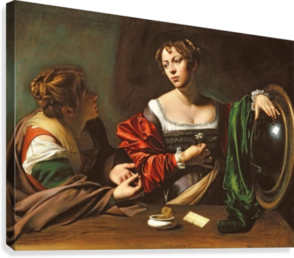 MARTHA AND MARY CARAVAGGIO  Canvas Print