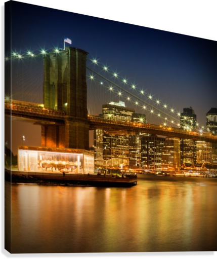 Night-Skylines NEW YORK CITY  Canvas Print
